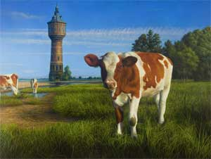 All along the water tower