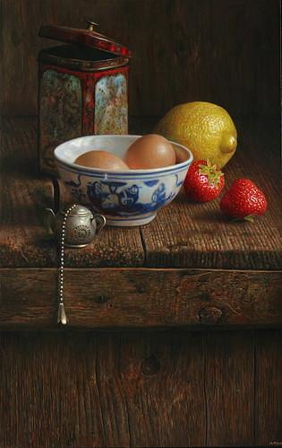 Compositie Met Schaaltje Eieren