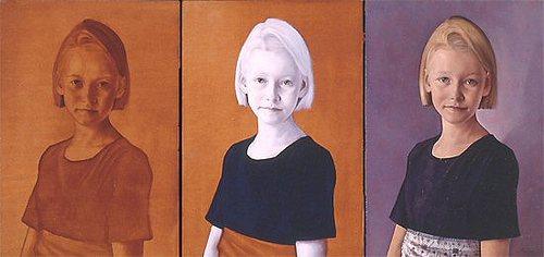 Portrait of Carlijn Hylkema (in three stages)