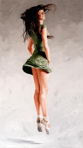 Portretschilderij ballet dansende Eva