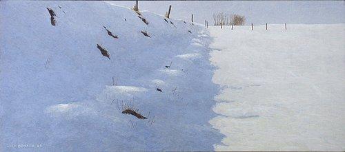 sneeuw bij Wierumerschouw