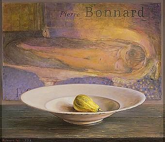 Schaal met vrucht en Bonnard